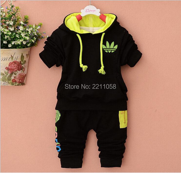 New Style Baby Clothes Sets Autumn Boys Girl Outfits Clothing Long Sleeve Hooded and Pants 2pcs Casual Kids Sport Tracksuits(China (Mainland))