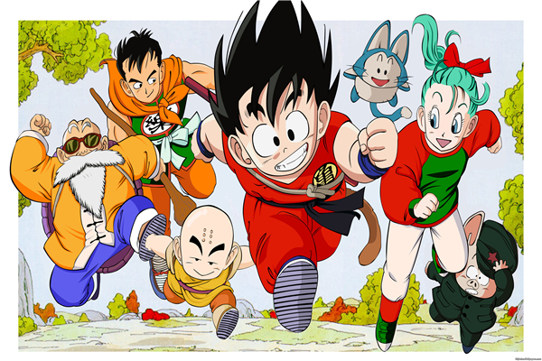 Anime papier peint promotion achetez des anime papier for Decoration murale dragon ball