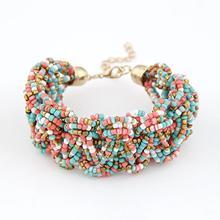 Fashion Brand Wholesale Jewelry bracelet Bohemia Style Retro Bead Multicolor Charm Vintage Love Cuff Women Bracelets & Bangles