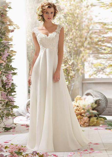 Бесплатная доставка новый модный линии дешевые сексуальные свадебные платья спинки ...