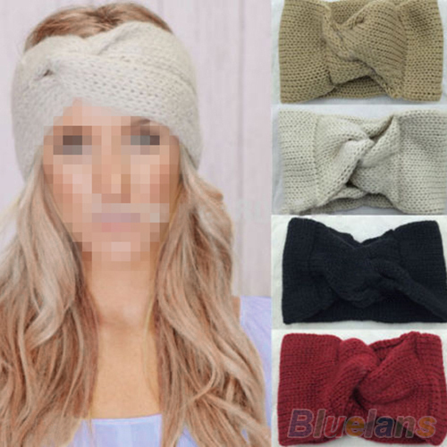 Women's Knitted Turban Twisted Knotted Hair Band Ear Warmer Head Wrap Headband 2M84(China (Mainland))