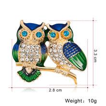 Email Kristal Bee Burung Hantu Dragonfly Burung Anjing Bros untuk Wanita Tanaman Hewan Serangga Bros Perjamuan Pernikahan Aksesoris(China)