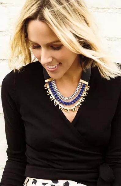 Fashion accessories vintage strap gem women's necklace(China (Mainland))