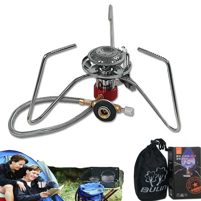portable outdoor camping gas stove gas parts cooker Bulin BL100-B3 Super Folding PORTABLE CAMPING GAS STOVE 3500W kitchen(China (Mainland))