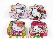 2014 Hot Fashion Hello Kitty Wallet 7 Design Mini Coin Purse Cheap Mini Wallets NO Mini Order 1PC Lowest Price