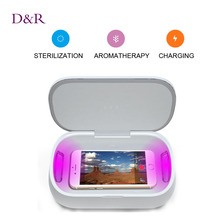 Multifunctional UV Light Mobile Sterilizer Fragrance Cell Phone Disinfector Sterilization Device Disinfection Box Christmas Gift(China (Mainland))