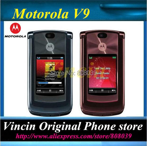 unlocked original v9 RAZR Refurbished mobile phones Support Russina Keyboard(China (Mainland))