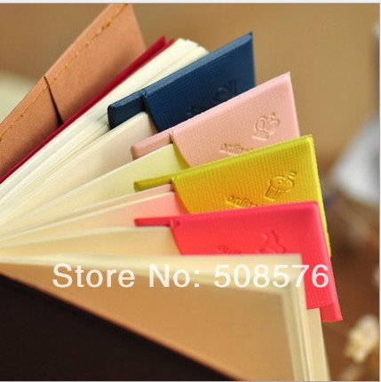 Creative Color Trojans Leather Corners Bookmark/DIY Multifunction Book marks(China (Mainland))