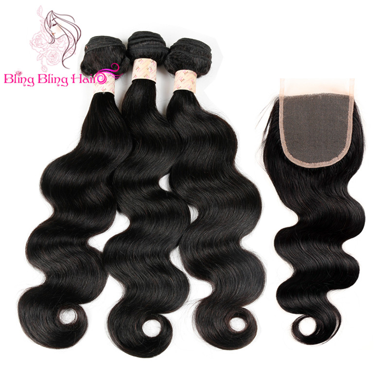 Ali Moda Hair With Closure Malaysian Body Wave With Closure Malaysian Virgin Hair 4 Bundles With Closure Full Head Weave Closure