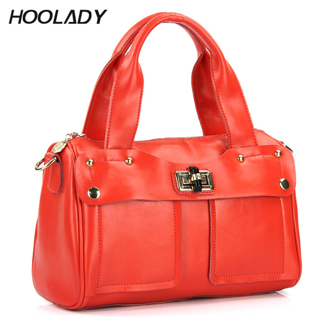 Free Shipping 2013 Spring And Summer Cowhide Button Candy Color All-Match One Shoulder Handbag