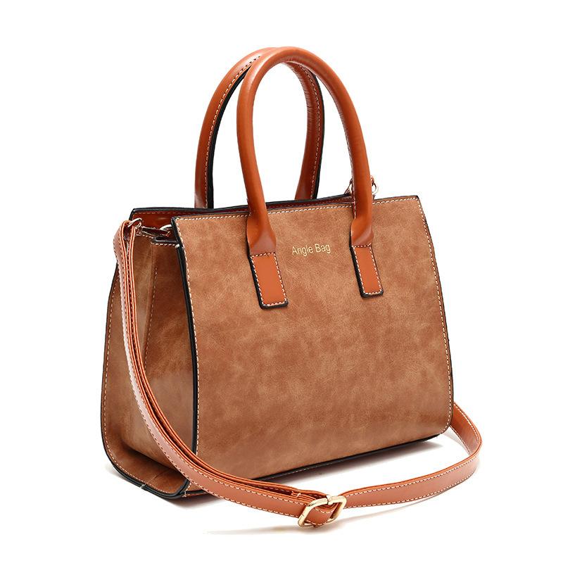 New Women Bags 2015 Bag Handbag Fashion Handbags High Quality Nubuck Leather Vintage Casual Women Shoulder Bags(China (Mainland))