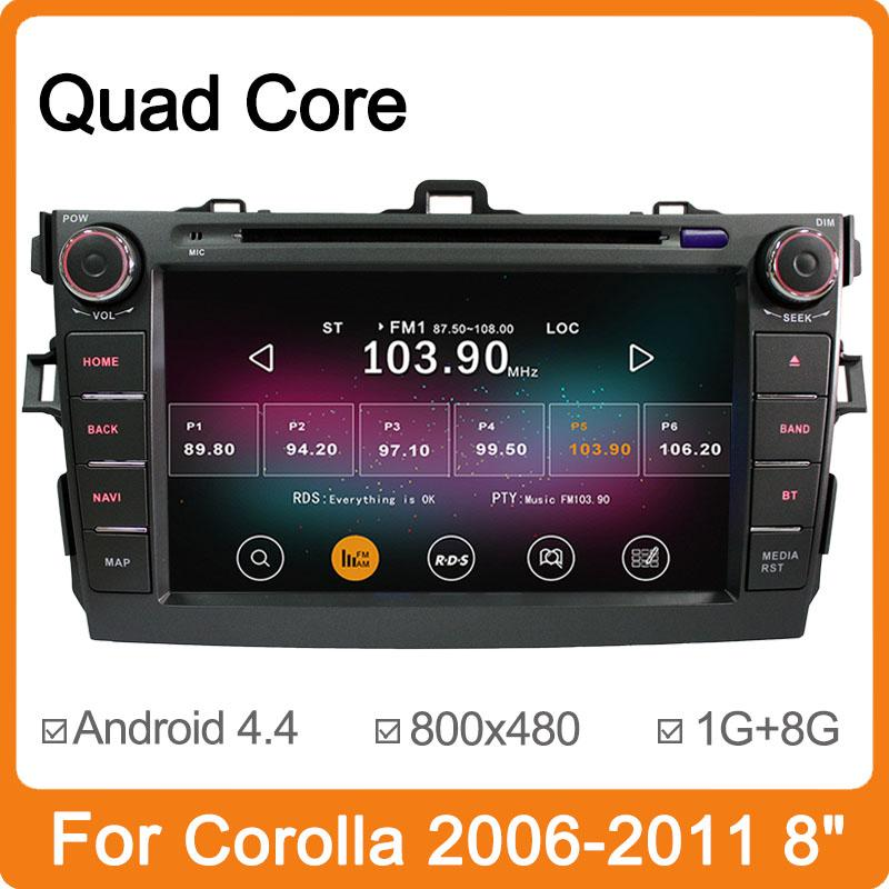 "Free Shipping Pure Android 4.4 Newest 8"" Car Dvd Player For Toyota C"