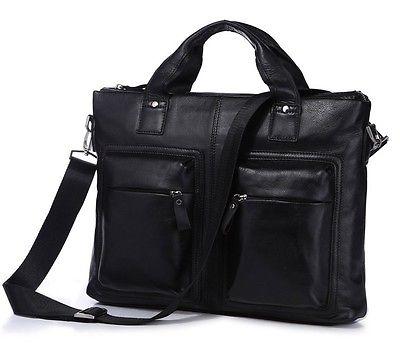 Vintage Genuine Leather Men Briefcase Handbag Laptop Bag Messenger Bag Free Ship(China (Mainland))