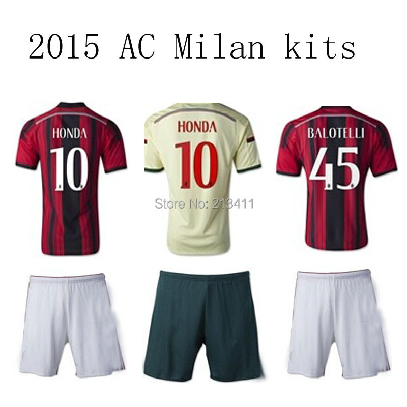 Cheap thailand quality 2015 2016 ac milan soccer jersey football