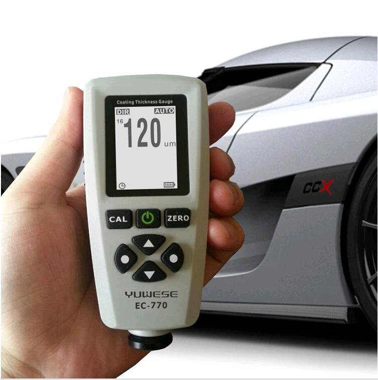 Vehicle Installed Digital Measuring Instruments : Digital car coating thickness gauge meter in width