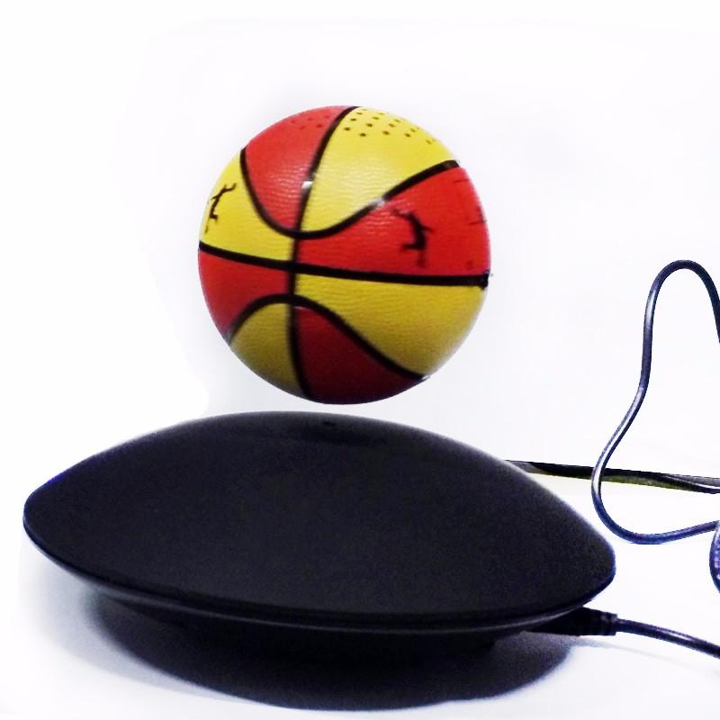 ถูก ลำโพงบลูทูธลูกเทนนิสLEDแบบพกพาไร้สายบลูทูธ4.0ลอยลอยลำโพง360องศาหมุนด้วยไมโครโฟน