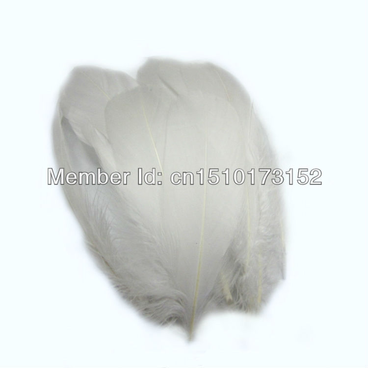 20 Soft Rod white feathers Goose plume 5-7''/13-18cm sale RP-1 - TiTi Feather Market store