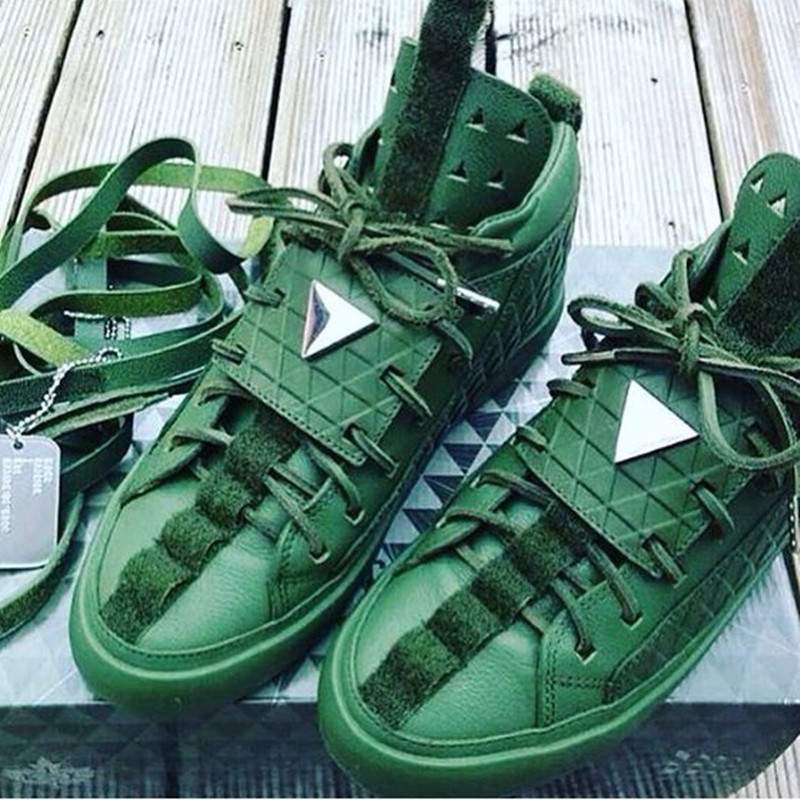New Maison Suede Lace Up Kanye West Chaussure De Sport Casual Mens Shoes High Top Gladiator Mens Flats yeezys 350 Shoes Sapatos