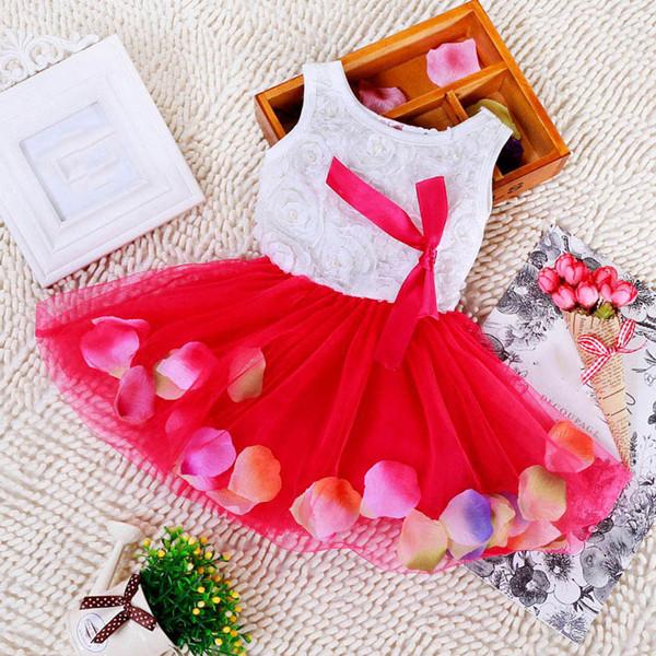 Korean Baby Girls Lace Dress Kids Girls Stylish Princess Pageant Party Tutu Dress Lace Bow Flower Tulle dress(China (Mainland))