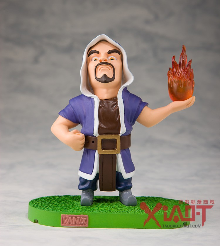 2015 New Product COC Clash of Clans the Wizard Action Figure Toy 12CM made of Resin Collector's Edition Free Shipping(China (Mainland))