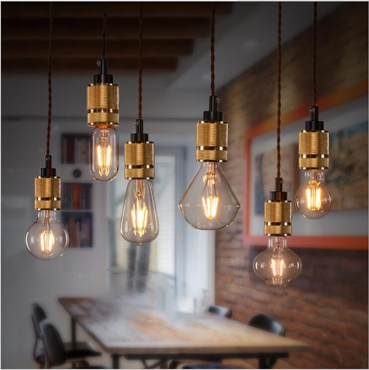 buy loft stlye pendant lights holder e27. Black Bedroom Furniture Sets. Home Design Ideas