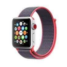 Ремешок для Apple Watch Series 3/2/1 38 мм 42 мм нейлон мягкие дышащие замена на спортивные петли для iwatch серии 4 40 мм 44 мм(China)