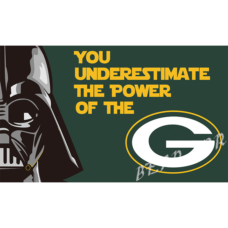 3X5FT NFL Green Bay Packers flag 100D Polyester Flag metal Grommets 90x150cm Outdoor flag(China (Mainland))