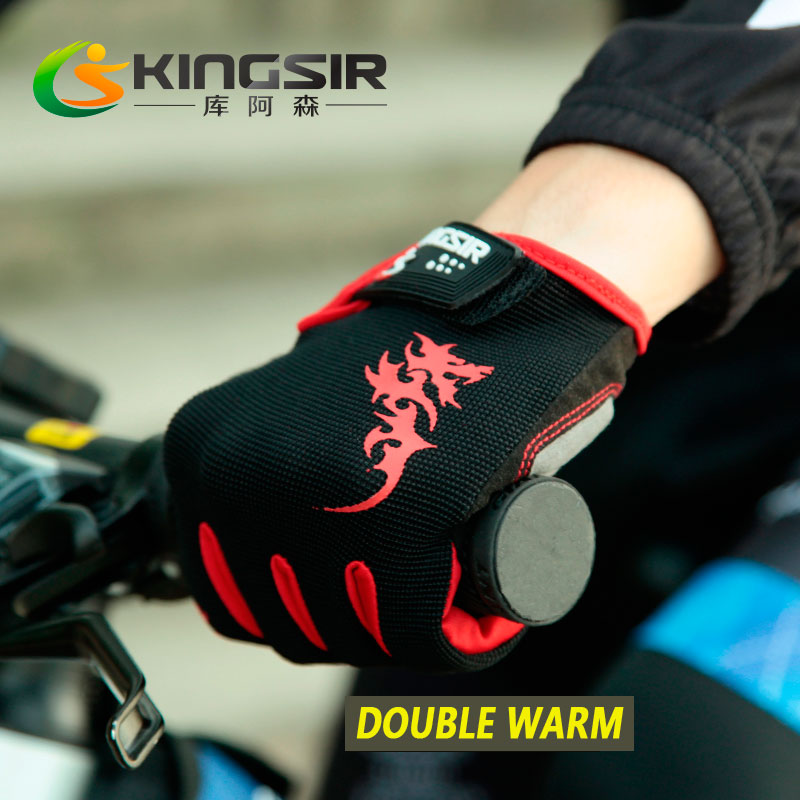 Winter Cycling Thicken Double Warm Gloves Bike Shockproof Glove Full Finger Men&Women Bicycle Motocross Mitten MTB Gloves(China (Mainland))