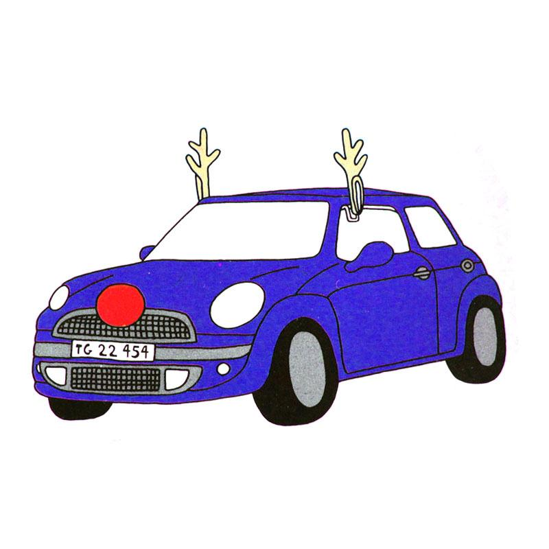 2017 Winter Christmas gifts Fun Auto Car Vehicle Antlers Red Nose Christmas Holiday Party Decoration Decor Car styling(China (Mainland))