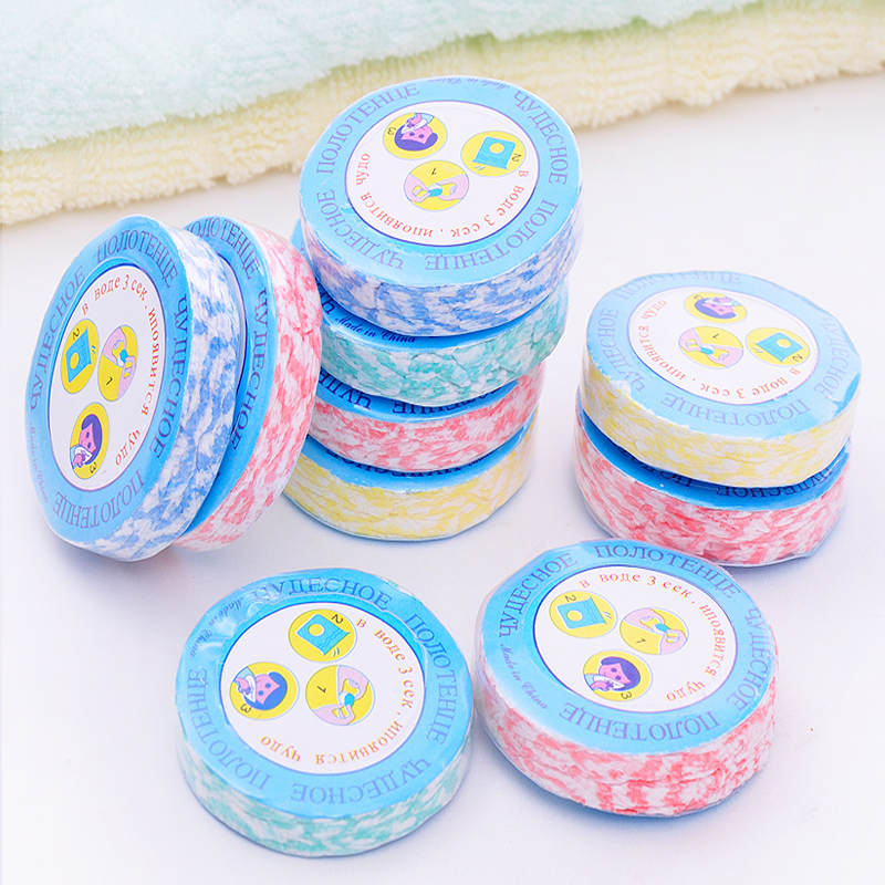 25*30cm Compressed Towels Small Portable Camping Hiking Travel Use Washclothes(China (Mainland))