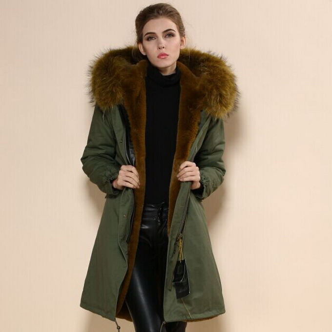 Womens Fur Lined Parka Coats - JacketIn