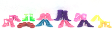 NK One Set=12 pairs Doll Shoes Fashion Cute Colorful Assorted shoes for Barbie Doll with Different styles High Quality Baby Toy