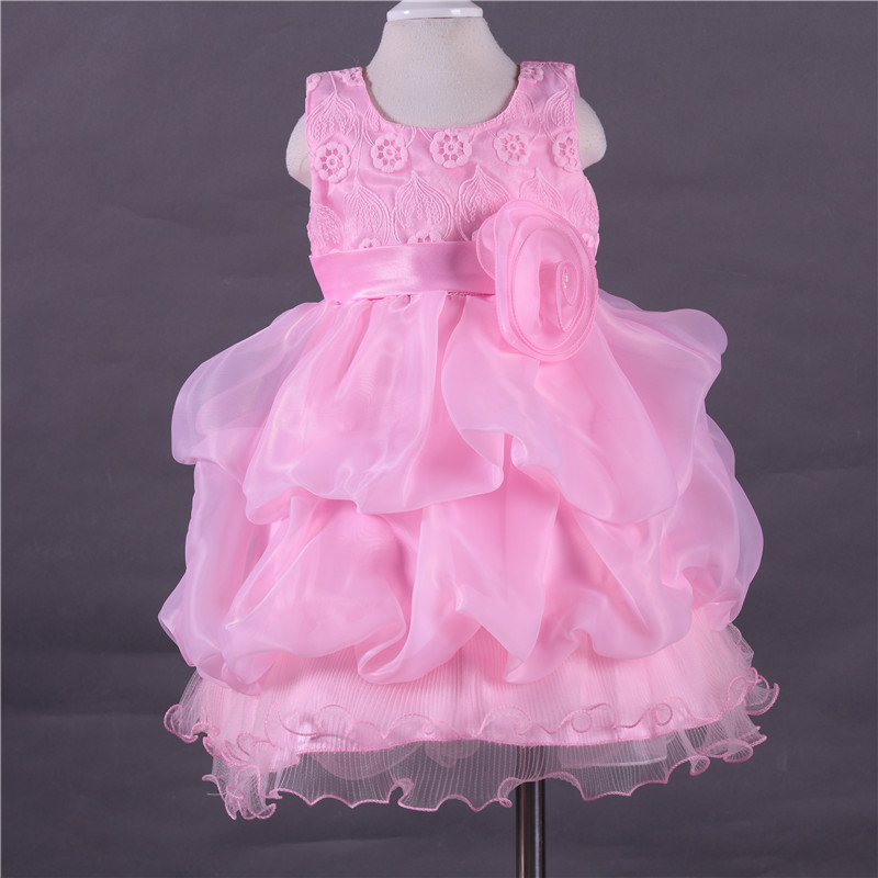 2016 summer  lolita  roses wedding dress with six colors flower girl dress girl princess dress L102 10pcs/2lot DHL free shipping<br><br>Aliexpress