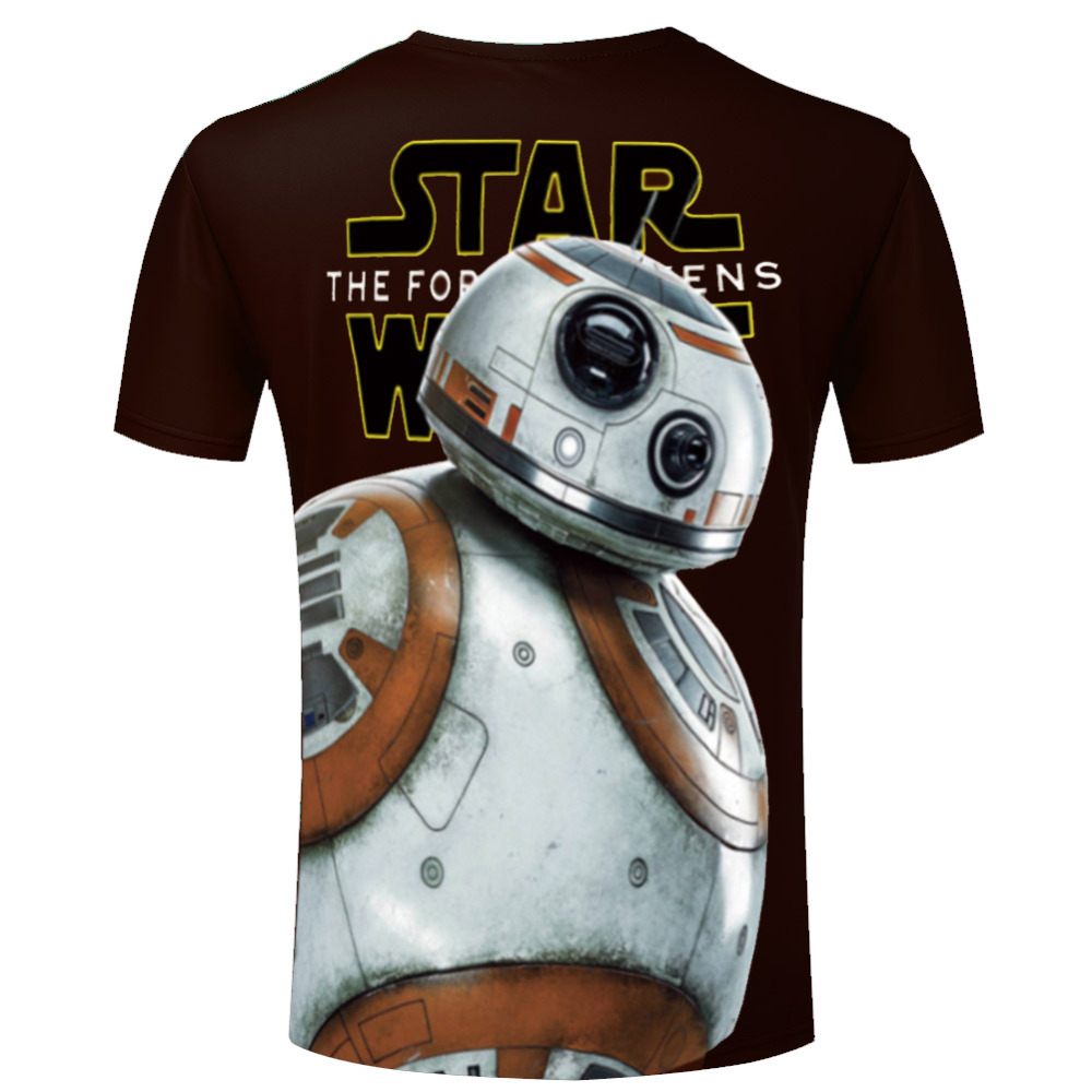 High Quality Men T Shirts Star Wars Clothing Popular Round Neck Casual Top Tees Darth Vader