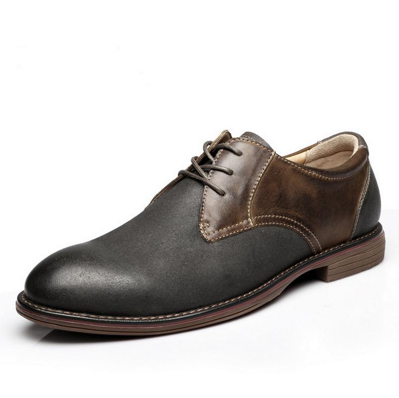 Гаджет  38-45 Plus Size Vintage Men Oxfords Genuine Leather Oxfords Casual Men Business Shoes Mens Flats None Обувь