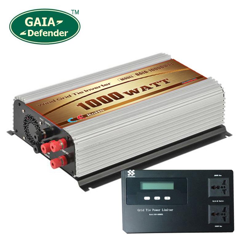 1000W Wind Power Grid Tie Inverter with Limiter / Dump Load Controller Resistor 45v-90v to 110V 120V(China (Mainland))
