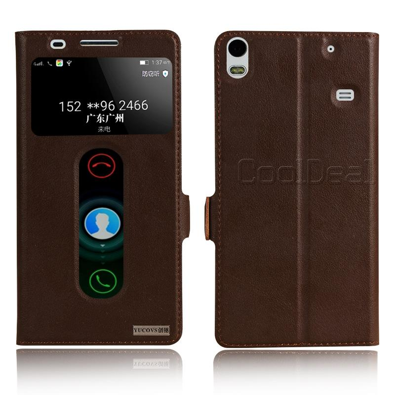Retro Genuine Leather Flip Stand Cover Cases For Lenovo S8 A7600 Luxury Smart Mobile font b