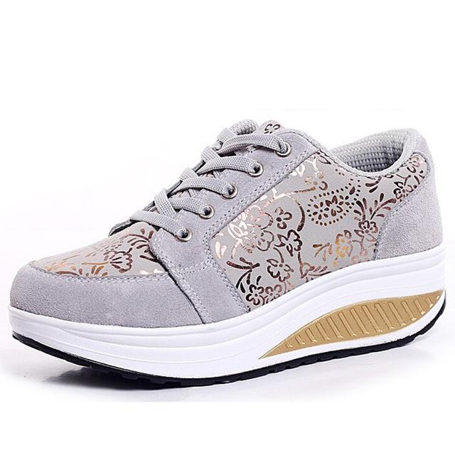 Женщины клин свободного покроя обувь летних прогулок потеря веса обувь весна осень ...