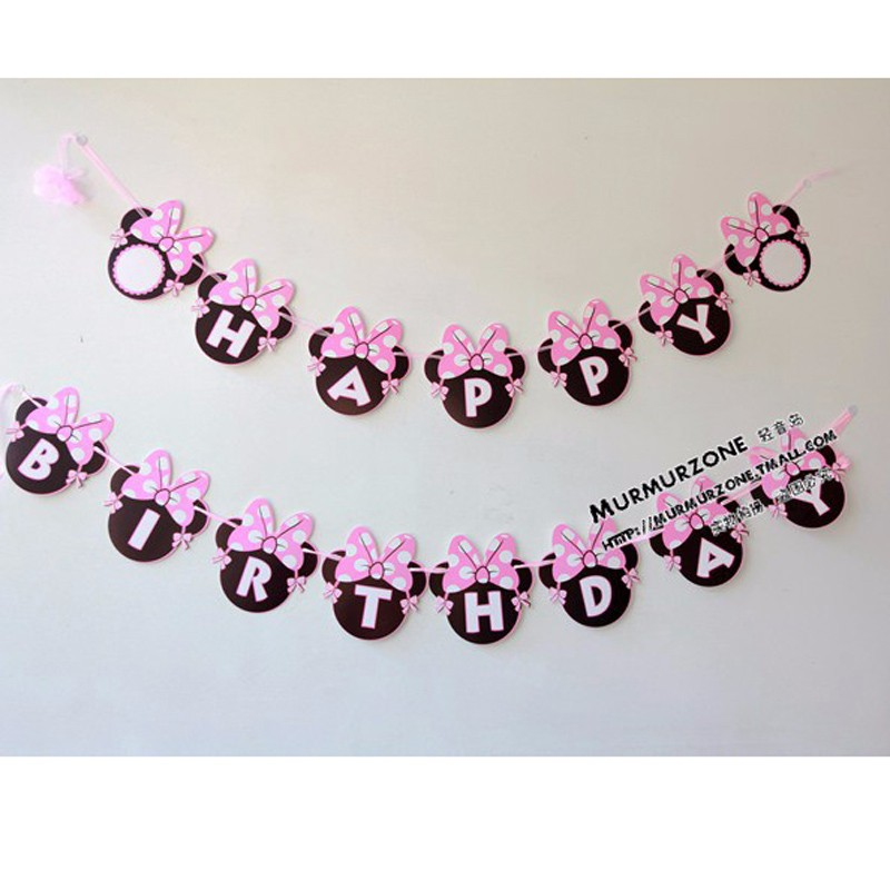 Minnie-Head-Mouse-Happy-Birthday-Paper-Flags-Bunting-Banner-for-Kids-Birthday-Party-Decoration-Supplies-Home (4)