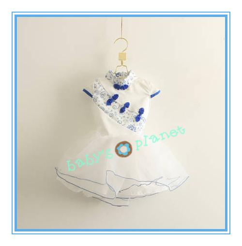 2013 new freeshipping chinese girl dress qipao girl wedding dress flower princess party dress ball gown 5pcs/lot<br><br>Aliexpress