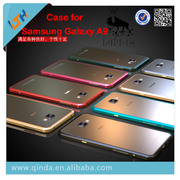 2016 New Luxury Luphie Design Aluminum metal frame with Tempered glass back cover case for Samsung Galaxy A9 A9000 free shipping
