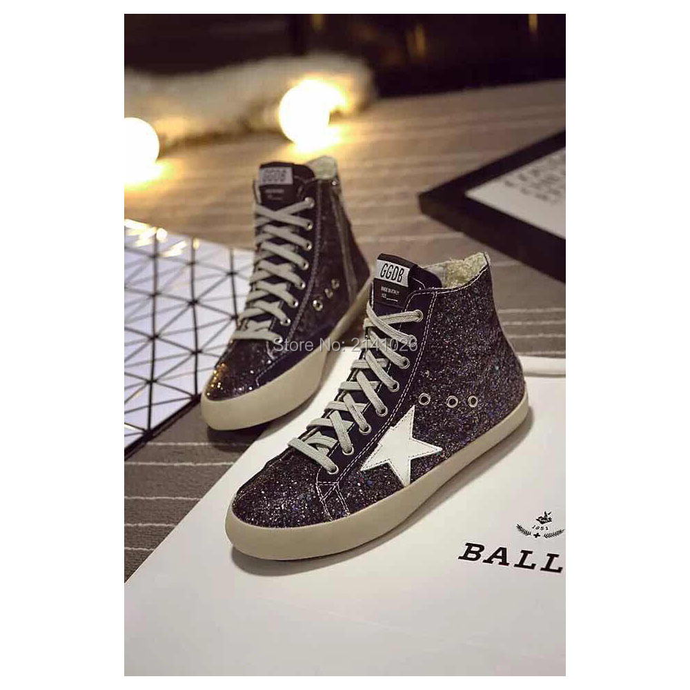 Brand Italy Golden Goose Superstar spring autumn Shoes High Top Womens Mens Comfortable Handmade  GGDB Casual Shoes size 35-46<br><br>Aliexpress