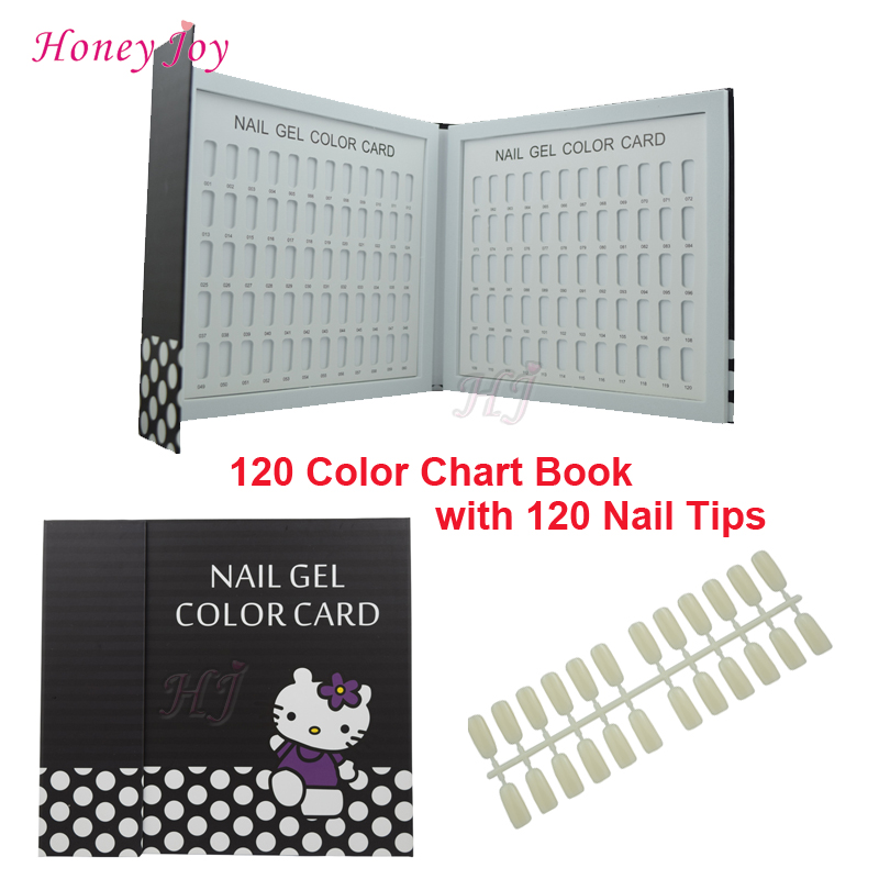 1 pc Professional 120 Colors Lovely Nail Gel Polish Display Card Book Chart with Tips Nail Art Salon Set<br><br>Aliexpress