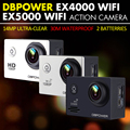 DBPOWER EX5000 EX4000 Action Camera Helmet Sport Cam Head Video Bike Cams Waterproof WIFI 1080p 2