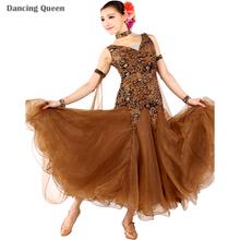 2016 Nouvelle Arrivée Lisse Robe Salle De Bal Danse Dame Salle De Bal De Danse Robes Femmes Valse Viennoise Robes Tango De Danse Robes
