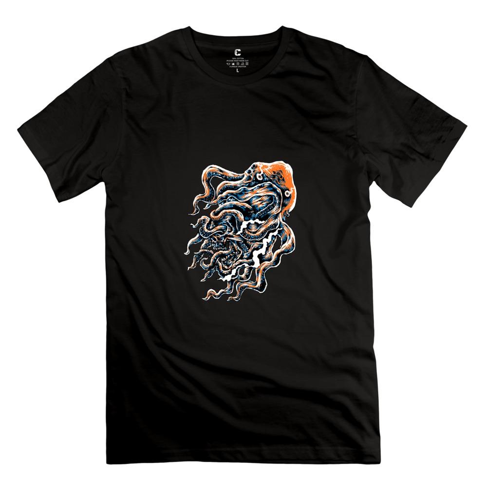 Octopus skull men 39 s t shirtcool short sleeve t shirt for for Best mens t shirt brands