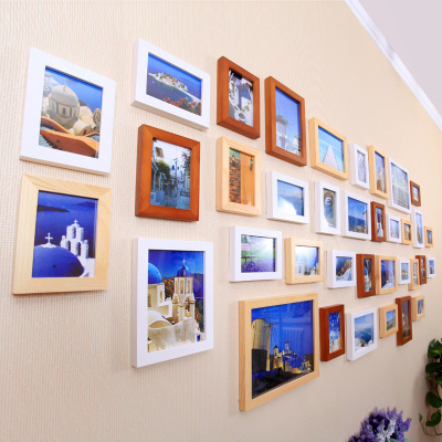 36 frame wood frame wall photo wall living room office