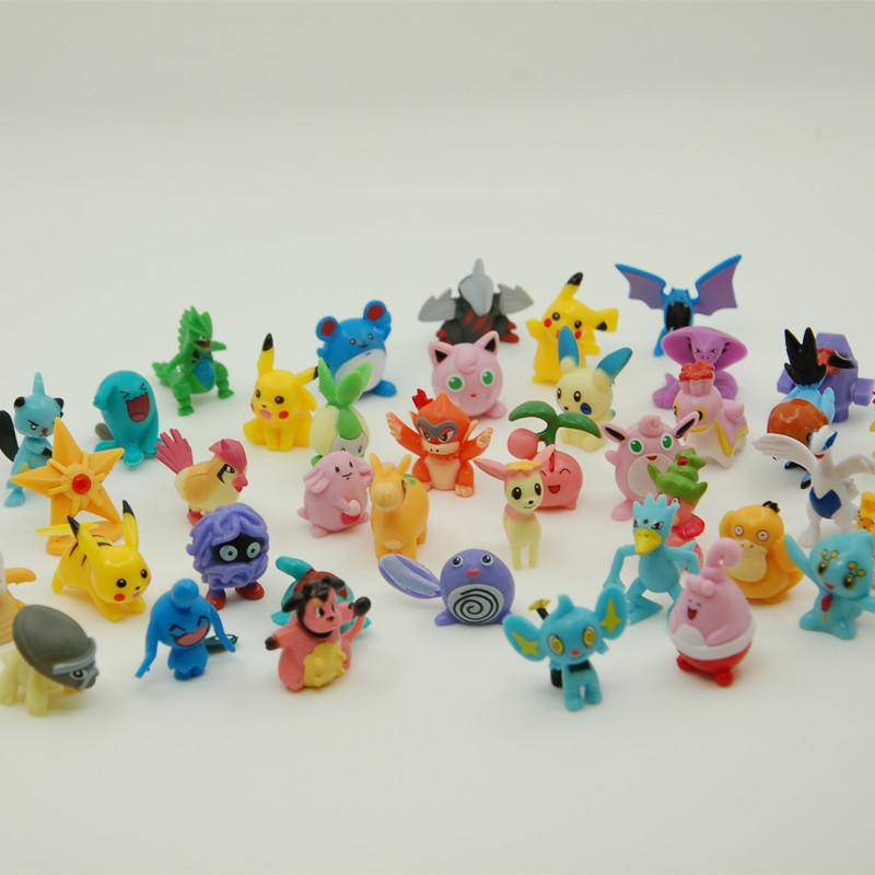 48 pcs Kids Toys Pokemon Action Figures Pikachu Anime pokeball Toys Mixed 2-3cm Mini Pokemon ball Figure Toys For Children(China (Mainland))