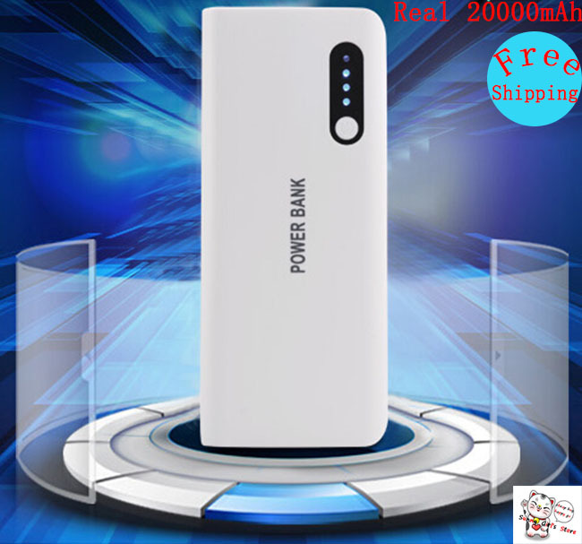 Powerbank 20000mAh Samsung Galaxy S3 S4 S5 Cell Phones Portable External Battery Pack Charger Rechargeable Power Bank 18650 - Sunny Globle Store store