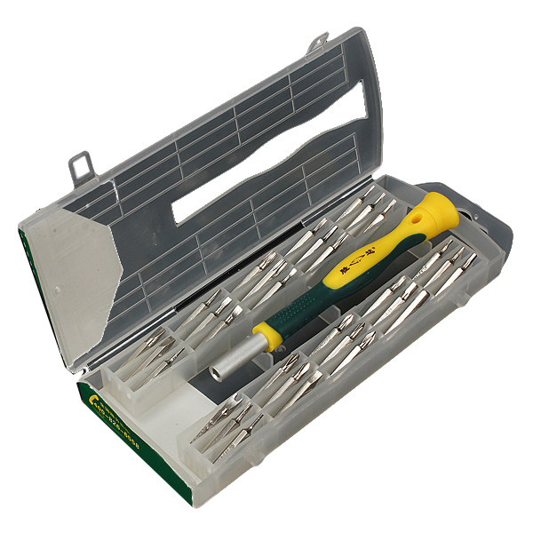 New 31 in1 Precision Screwdriver Set Phillips Torx Star Slotted Hex Key Security Bit(China (Mainland))